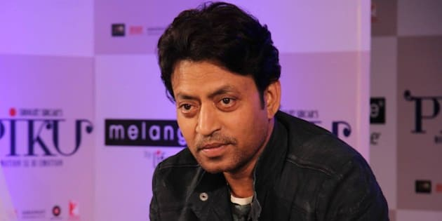 MUMBAI, INDIA - APRIL 28: Bollywood actor Irrfan Khan  during the showcase of Melange by Lifestyle's Piku inspired ethnic wear collection on April 28, 2015 in Mumbai, India. (Photo by Pramod Thakur/Hindustan Times via Getty Images)