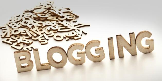 'Blogging' written in block letters