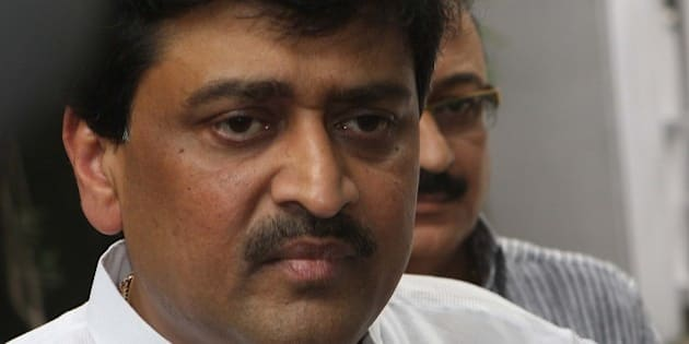 NEW DELHI, INDIA - OCTOBER 30: Maharashtra Chief Minister Ashok Chavan talking to media persons after meeting the Congress President Sonia Gandhi about ÔAdarsh SocietyÕ at her Residence at 10 Janpath on October 30, 2010 in New Delhi, India. (Photo by Sushil Kumar/Hindustan Times)