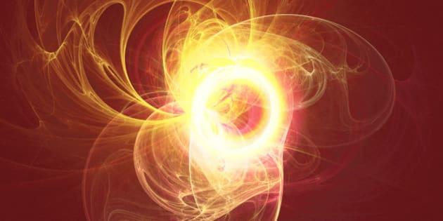 Solar flare like swirling hot fractal