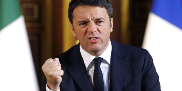 "Italian Prime Minister Matteo Renzi  clenches his fist as he delivers a speech at the Sorbonne University, Thursday, Nov. 26, 2015 in Paris. Italy's prime minister has renewed his commitment to fighting terrorism alongside France, saying a broader coalition is needed to destroy the Islamic State group ""and the atrocious project that it represents."" (AP Photo/Jacques Brinon)"