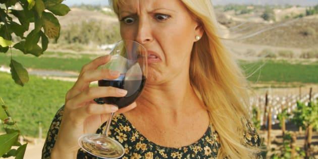 Beautiful Woman Wine Tasting