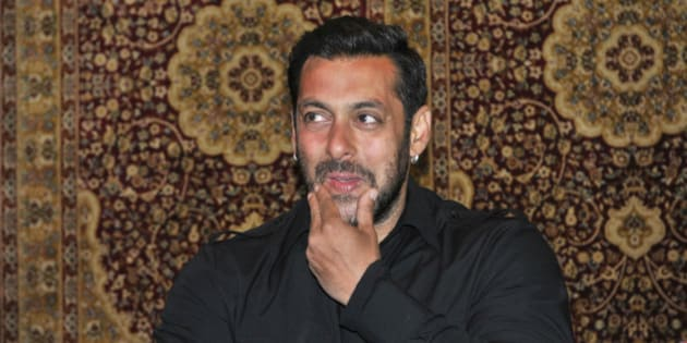 SONAMARG, INDIA - MAY 17: Bollywood actor Salman Khan during his first press conference after the hit-and-run verdict, on May 17, 2015 in Sonamarg, India. Salman, 49, who was sentenced to five years imprisonment by a Mumbai sessions court in the 2002 hit-and-run case which was later suspended by the Bombay High Court. (Photo by Waseem Andrabi/Hindustan Times via Getty Images)