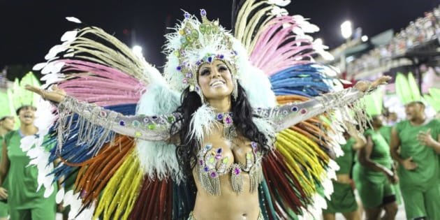 RIO DE JANEIRO, BRAZIL - FEBRUARY 06:  A woman of the Caprichosos de Pilares  samba school performs during the second day of parades as part of Rio Carnival 2016 at Sapucai Sambadrome on February 06, 2016 in Rio de Janeiro, Brazil. (Photo by Vanessa Carvalho/Brazil Photo Press/LatinContent/Getty Images)