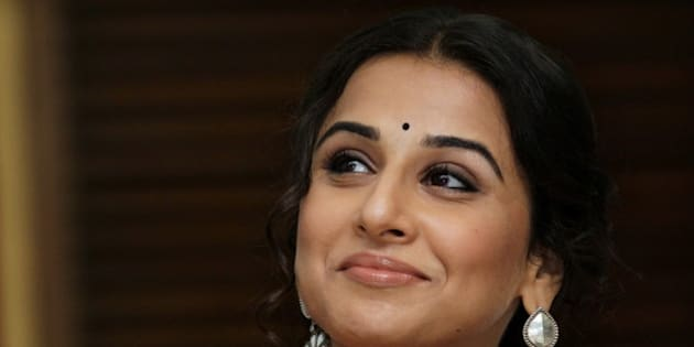 NEW DELHI, INDIA - SEPTEMBER 28: (Editors Note: This is an exclusive shoot of Hindustan Times) Bollywood actor Vidya Balan during an exclusive profile shoot with HT City-Hindustan Times at The Gulmohar, India Habitat Centre, Lodhi Road on September 28, 2012 in New Delhi, India. Vidya Balan announced India's first association with wash united at building awareness for sanitation and hygiene in urban & rural India. Balan said that she was proud and honoured to be the messenger of the Government of India for the cause of bringing about a clean India. After all, celebrities such as I can use our position and presence for a social cause to make a real difference in the lives of people in this country. I have chosen sanitation. (Photo by Raajessh Kashyap/Hindustan Times via Getty Images)