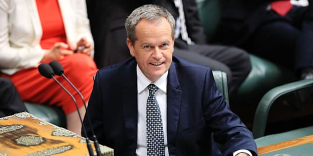 CANBERRA, AUSTRALIA - DECEMBER 03:  Leader of the Opposition Bill Shorten during House of Representatives question time at Parliament House on December 3, 2015 in Canberra, Australia. Mr Brough is being investigated by the Australian Federal Police any involvement in getting former staffer James Ashby to obtain copies of then-speaker Peter Slipper's diary in 2012.  (Photo by Stefan Postles/Getty Images)