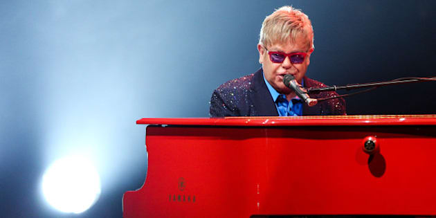 FILE - In this Wednesday, Jan. 13, 2016 file photo, Elton John performs at The Wiltern  in Los Angeles. John didn't just premiere tracks from his new album at his most recent concert, he offered a tribute to his late friend David Bowie. About halfway through John's performance Wednesday night, he shared a story about Bowie, who died earlier this week.  (Photo by Rich Fury/Invision/AP, File)