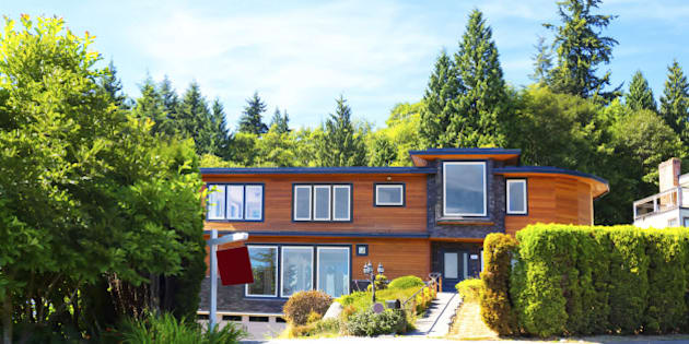 Contemporary luxury home for sale in West Vancouver.  RM