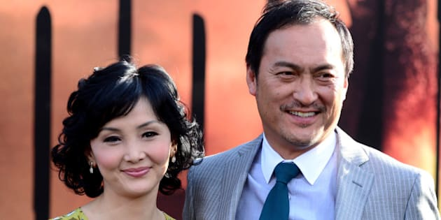 HOLLYWOOD, CA - MAY 08:  Kaho Minami (L) and actor Ken Watanabe attend the premiere of Warner Bros. Pictures and Legendary Pictures' 'Godzilla' at Dolby Theatre on May 8, 2014 in Hollywood, California.  (Photo by Frazer Harrison/Getty Images)