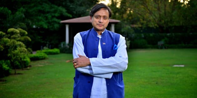 NEW DELHI, INDIA - APRIL 21: (Editor's Note: This is an exclusive shoot of Mint) Congress MP Shashi Tharoor during an exclusive interview, on April 21, 2015 in New Delhi, India. (Photo by Pradeep Gar/Mint via Getty Images)