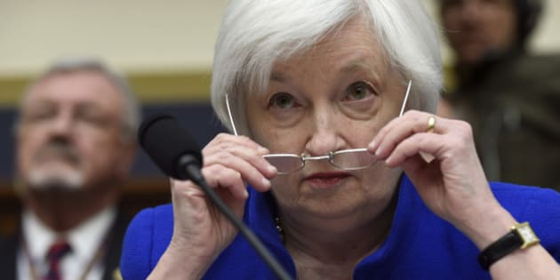 Federal Reserve Board Chair Janet Yellen prepares to testify on Capitol Hill in Washington, Wednesday, Feb. 10, 2016, before the House Financial Services Committee hearing on monetary policy and the state of the economy. (AP Photo/Susan Walsh)