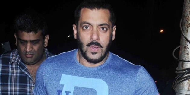 MUMBAI, INDIA FEBRUARY 04 : Salman Khan at Nido Bar in Bandra, Mumbai.(Photo by Milind Shelte/India Today Group/Getty Images)