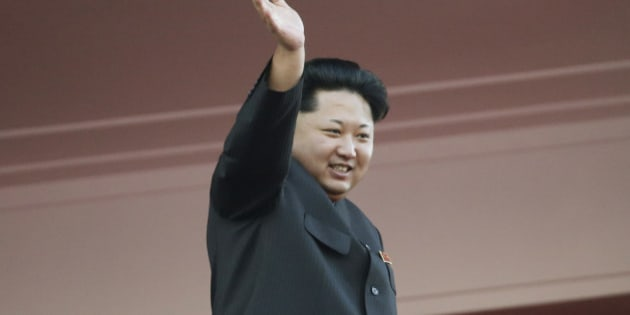 """In this Oct. 10, 2015, file photo, North Korean leader Kim Jong Un waves at a parade in Pyongyang, North Korea. It's a single image released by an enormous propaganda apparatus, showing a note handwritten by a dictator. And it contains a telling clue to the mindset behind what has become the biggest story in Asia: North Korea's surprise and disputed claim to have tested its first hydrogen bomb. The Dec. 15, 2015, note from leader Kim Jong Un calls for a New Year marked by the """"stunning sound of the explosion of our country's first hydrogen bomb."""" (AP Photo/Wong Maye-E, File)"""