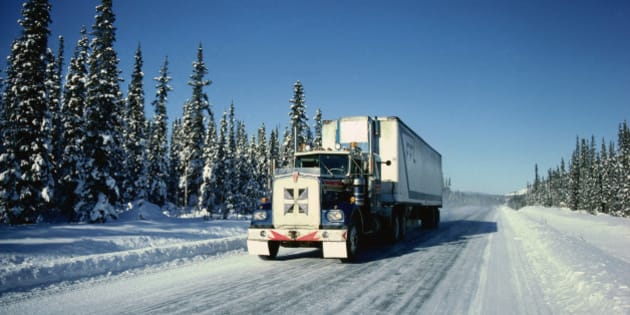 Transport Truck, Dempster Highway, Yukon, Canada