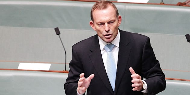 CANBERRA, AUSTRALIA - FEBRUARY 11:  Tony Abbott speaks about Deputy Prime Minister Warren Truss after he announced his retirement in the House of Representatives on February 11, 2016 in Canberra, Australia. Nationals Leader and Deputy Prime Minister Warren Truss and Trade Minister Andrew Robb will retire at the next election.  (Photo by Stefan Postles/Getty Images)