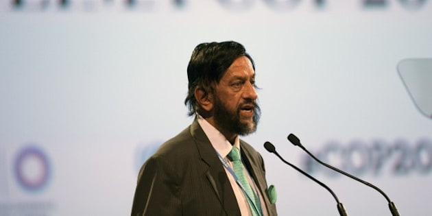 Nobel Peace Prize 2007 Indian Rajendra Pachauri, head of the UN panel of climate scientists, speaks during a high level meeting at UN COP20 and CMP10 climate change conferences being held in Lima on December 11, 2014. The UN 20th session of the Conference of the Parties on Climate Change (COP20), and the 10th session of the Conference of the Parties serving as the Meeting of the Parties to the Kyoto Protocol (CMP10) entered its second week of negotiations until 12th. AFP PHOTO/Eitan Abramovich        (Photo credit should read EITAN ABRAMOVICH/AFP/Getty Images)