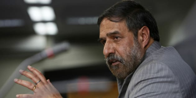 Indian Commerce Minister Anand Sharma addresses a press conference in New Delhi, India, Friday, Nov. 25, 2011. Sharma told reporters that the Indian cabinet's decision late Thursday allowing 51 percent foreign ownership of supermarkets would vastly improve decrepit infrastructure that causes massive food waste in a country plagued by malnutrition and high inflation. (AP Photo/Gurinder Osan)