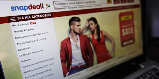 The Snapdeal.com website is displayed on a laptop computer in an arranged photograph in New Delhi, India, on Thursday, Aug. 21, 2014. India doesnt allow foreign-controlled companies to sell products online. Thats led web retailers such as the local Snapdeal to a different model than the one pioneered by Amazon: they operate online marketplaces and local traders sell goods in a $3 billion e-commerce market. Photographer: Kuni Takahashi/Bloomberg via Getty Images