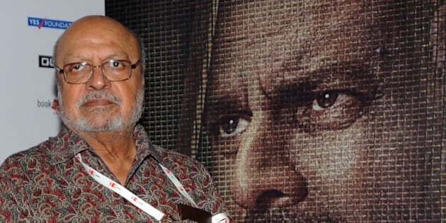 Indian Bollywood director and screenwriter Shyam Benegal attends the special screening of National Award winning director Hansal Mehta's Hindi film 'Aligarh' at 'Jio MAMI 17th.Mumbai Film Festival' in Mumbai on October 30, 2015.     AFP PHOTO        (Photo credit should read STR/AFP/Getty Images)