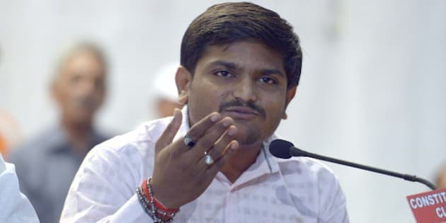 NEW DELHI,INDIA SEPTEMBER 30: Press conference by Hardik Patel in New Delhi.(Photo by Yasbant Negi/India Today Group/Getty Images)