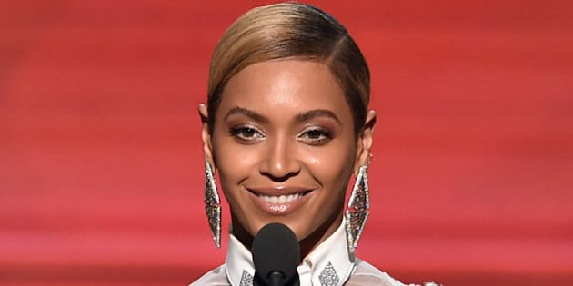LOS ANGELES, CA - FEBRUARY 15:  Recording artist Beyonce speaks onstage during The 58th GRAMMY Awards at Staples Center on February 15, 2016 in Los Angeles, California.  (Photo by Kevin Winter/WireImage)