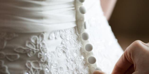 Sweden, Buttoning up Wedding dress