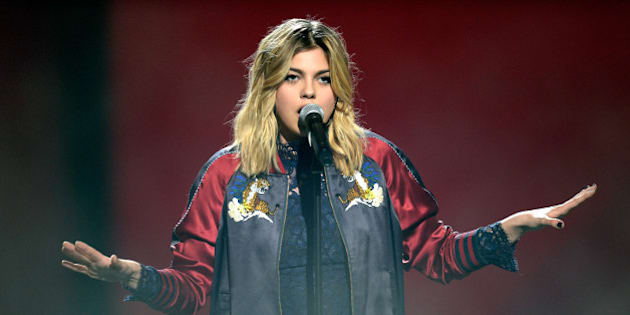 PARIS, FRANCE - FEBRUARY 12:  Louane performs onstage during the 31st 'Victoires de la Musique' French Music Awards Ceremony at Le Zenith on February 12, 2016 in Paris, France.  (Photo by Kristy Sparow/Getty Images)