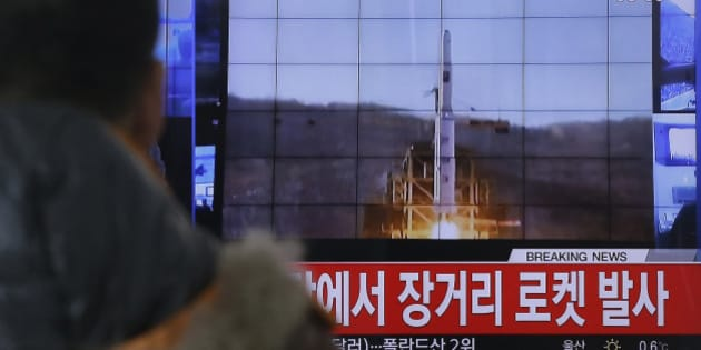 FILE - In this Feb. 7, 2016, photo, a South Korean man watches a TV news program with a file footage about North Korea's rocket launch at Seoul Railway Station in Seoul, South Korea. North Korean nuclear and rocket tests are drawing quick responses from the U.S. that will upset a supposed partner against Pyongyang's weapons development _ China. New efforts to toughen missile defense in South Korea and sanctions legislation moving swiftly through Congress could both hurt Chinese interests. The Chinese are concerned the missile defense system could be used against them, and the U.S. sanctions could hit Chinese companies that trade with North Korea.  (AP Photo/Ahn Young-joon)