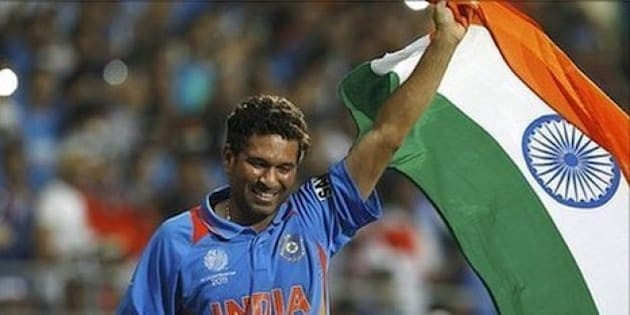 Historic Moment for a Billion Indians. This man is GOD. We won the Cricket World Cup.
