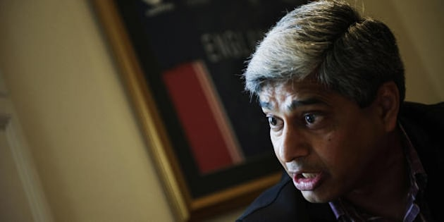 Vikas Swarup, indian diplomat and author of the book 'Q & A', the film adaptation of which was the multi-oscar winning 'Slumdog Millionaire' speaks during an interview with an unseen Agence France-Presse (AFP) correspondant during a literary festival in Franschoek on the outskirts of Cape Town, South Africa on May 15, 2009.  Vikas Swarup may have penned a small novel that swept the globe, winning accolades and turning out an Oscar darling film, but the Indian diplomat to South Africa sees his success as a chance windfall.  AFP PHOTO/Gianluigi GUERCIA (Photo credit should read GIANLUIGI GUERCIA/AFP/Getty Images)
