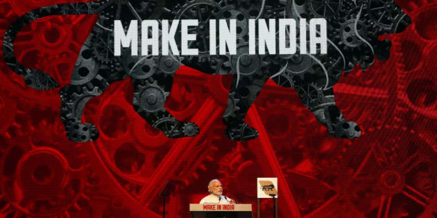 Indian Prime Minister Narendra Modi speaks during the inaugural ceremony of 'Make in India' week in Mumbai, India, Saturday, Feb. 13, 2016. 'Make in India' is an initiative launched by the Modi last year to encourage international companies to manufacture their goods in India. (AP Photo/Rajanish Kakade)