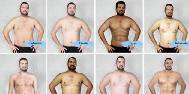 Le Persone Piu Muscolose Del Mondo.Il Corpo Dell Uomo Ideale In 19 Paesi Diversi Foto L Huffington Post