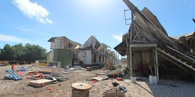 NAURU ISLAND, NAURU - JULY 20: (EDITORS NOTE: Best Quality Available) In this handout photo provided by the Australian Department of Immigration, Damange to accommodation is seen after rioters caused AUD$60m damage on Friday evening, on July 20, 2013 on Nauru Island, Nauru. The riot came as news broke that the Australian government will send all asylum seekers to Papua New Guinea for processing and resettlement. (Photo by Department of Immigration via Getty Images)