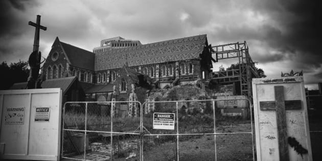 CHRISTCHURCH, NEW ZEALAND - FEBRUARY 22:  (EDITORS NOTE: This image has been processed using digital filters) Christchurch Cathedral is seen on February 22, 2016 in Christchurch, New Zealand. Five years ago to the day, an earthquake measuring 6.3 in magnitude devastated Christchurch killing 185 people and causing an estimated $40 billion in damage to the city's buildings and infrastructure.  (Photo by Ryan Pierse/Getty Images)