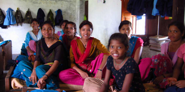 All the girls in the hostel are rescued ex-kamalaris (bonded child labourers). It's remote, and a 1 hour walk from the nearest paved road.