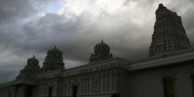 Hindu Temple at Memphis, TN.  Hindu Temple at Memphis, TN.