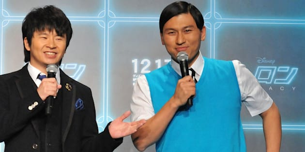 Masayasu  Wakabayashi and Toshiaki Kasuga of the Comedian Audrey attend the 'Tron: Legacy 3D' Press conference at the Ritz Carlton on November 29, 2010 in Tokyo, Japan. The film opens worldwide on December 17. (Photo by Jun Sato/WireImage)