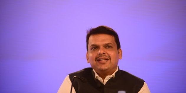 NEW DELHI, INDIA  NOVEMBER 21: Chief Minister of Maharashtra Devendra Fadnavis at Hindustan Times Leadership Summit 2014 on November 21, 2014 in New Delhi, India. (Photograph by Pradeep Gaur/Mint Via Getty Images)