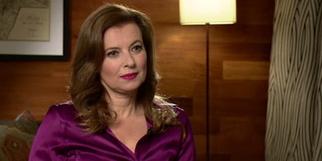 Photo by: KGC-42/STAR MAX/IPx 11/22/14 Valerie Trierweiler during an interview on the Andrew Marr Show. (Paris, France)