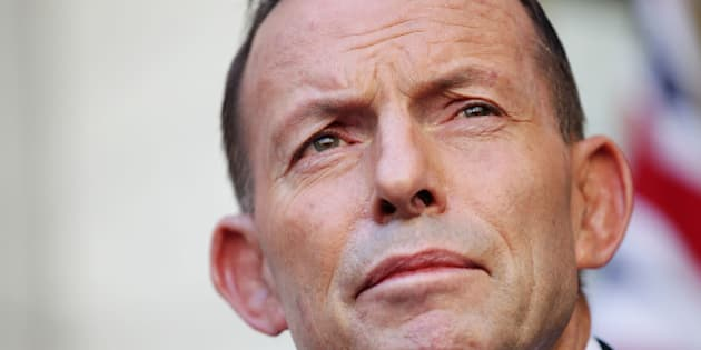 CANBERRA, AUSTRALIA - SEPTEMBER 15:  Tony Abbott makes his final statement to the media as Prime Minister at Parliament House on September 15, 2015 in Canberra, Australia. Tony Abbott lost the Liberal leadership ballot last night, defeated by Malcolm Turnbull 54-44. Malcolm Turnbull will now become the 29th Prime Minister of Australia. (Photo by Stefan Postles/Getty Images)