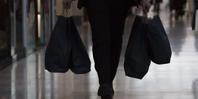 A shopper carries bags from a Zara fashion store, operated by Inditex SA, inside the Westfield London shopping mall, operated by Westfield Corp. in London, U.K., on Tuesday, Feb. 23, 2016. The U.K.'s potential exit from Europe may damage trade and encourage other members to renegotiate their relationship with the EU, signalling scope for further losses in the euro in the run-up to Britain's June 23 referendum. Photographer: Jason Alden/Bloomberg via Getty Images