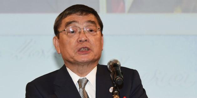 TOKYO, JAPAN - JULY 07:  NHK President Katsuto Momii attends the Hoso Bunka Foundation Prize on July 7, 2015 in Tokyo, Japan.  (Photo by Jun Sato/Getty Images)