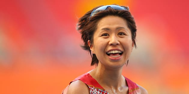 MOSCOW, RUSSIA - AUGUST 10:  Kayoko Fukushi of Japan reacts after winning bronze in the Women's Marathon during Day One of the 14th IAAF World Athletics Championships Moscow 2013 at Luzhniki Stadium on August 10, 2013 in Moscow, Russia.  (Photo by Julian Finney/Getty Images)