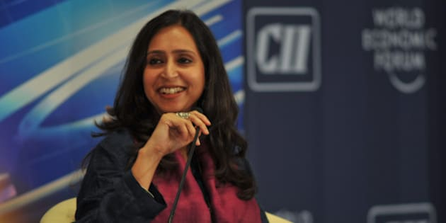 """NEW DELHI/INDIA, 16NOV10 - Shoma Chaudhury, Managing Editor, Tehelka, India, during the What Kind of Superpower will India Be? Debate at the World Economic Forum's India Economic Summit 2010 held in New Delhi, 14-16 November 2010.   Copyright (cc-by-sa) © <a href=""""http://www.weforum.org"""" rel=""""nofollow"""">World Economic Forum</a> (<a href=""""http://www.weforum.org"""" rel=""""nofollow"""">www.weforum.org</a>/Photo Eric Miller <a href=""""mailto: emiller@iafrica.com"""" rel=""""nofollow"""">emiller@iafrica.com</a>"""