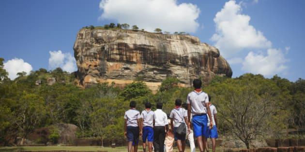 School boys at Sigiriya, North Central Province, Sri Lanka