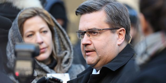 MONTREAL, QC - JANUARY 21:  Montreal Mayor Denis Coderre attends a Public Memorial Service for Celine Dion's Husband Rene Angelil at Notre-Dame Basilica on January 21, 2016 in Montreal, Canada.  (Photo by Tom Szczerbowski/Getty Images)