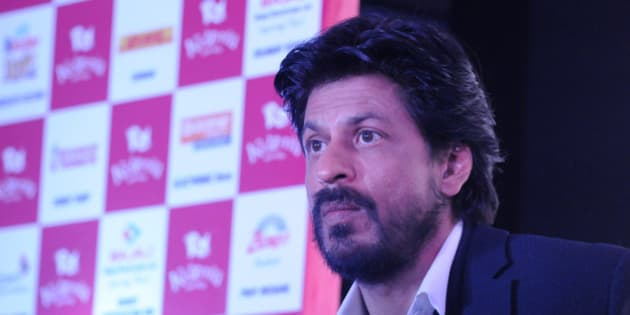 NOIDA, INDIA - JANUARY 29: Bollywood actor Shah Rukh Khan speaks during the formal announcement regarding edutainment theme park KidZania in Delhi/NCR at the Entertainment City on January 29, 2016 in Noida, India. KidZania is an edutainment theme park with 21 operational centers across 18 countries. Its Delhi NCR park will be open to public in May 2016. (Photo by Burhaan Kinu/Hindustan Times via Getty Images)