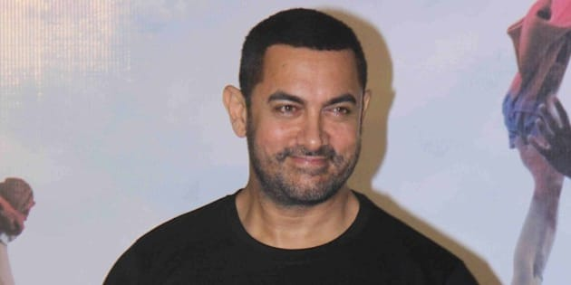 MUMBAI, INDIA - JANUARY 25: Bollywood actor Aamir Khan during a press conference to commemorate 10 years of Rang De Basanti at PVR ICON, Andheri on January 25, 2016 in Mumbai, India. (Photo by Pramod Thakur/Hindustan Times via Getty Images)