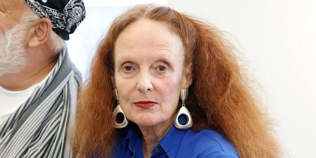 NEW YORK, NY - SEPTEMBER 09:  Creative Director of American Vogue, Grace Coddington attends Victor Alfaro  collection at the Studio Workshop during Spring 2016 New York Fashion Week at Victor Alfaro Studio on September 9, 2015 in New York City.  (Photo by John Lamparski/WireImage)