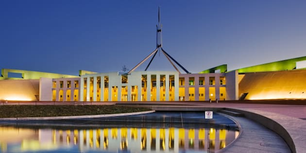 View of Parliament House of  Canberra, Australia.